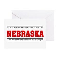 'Girl From Nebraska' Greeting Card