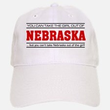 'Girl From Nebraska' Baseball Baseball Cap