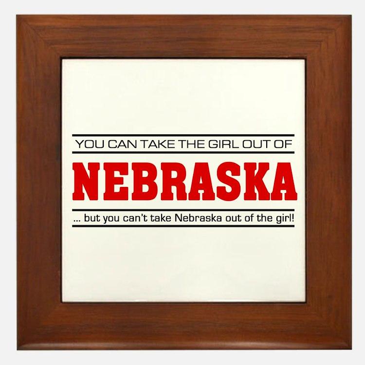 'Girl From Nebraska' Framed Tile
