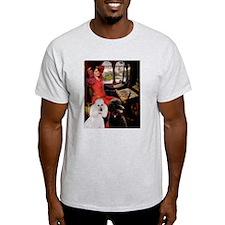Lady & 2 Poodles (ST) T-Shirt