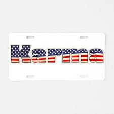 American Karma Aluminum License Plate