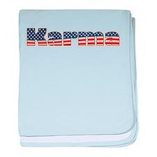 American Karma baby blanket