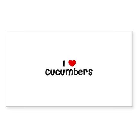 I * Cucumbers Rectangle Sticker