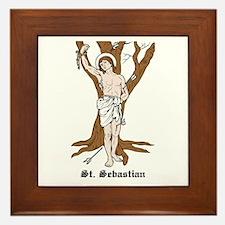 St. Sebastian Framed Tile
