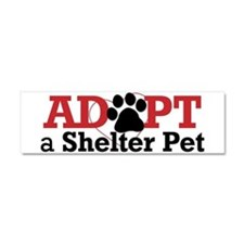Adopt a Shelter Pet Car Magnet 10 x 3