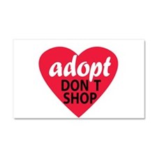 Adopt Don't Shop Car Magnet 20 x 12