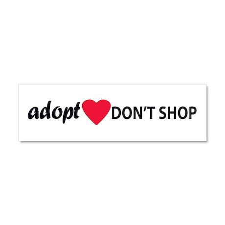 Adopt Don't Shop Car Magnet 10 x 3