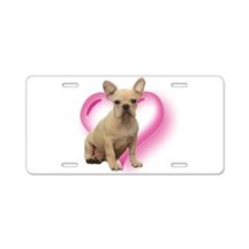 French Bulldog puppy Aluminum License Plate
