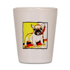 French Bulldog Art Shot Glass