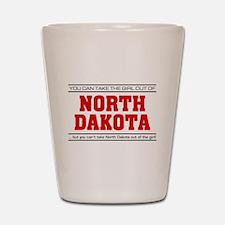 'Girl From North Dakota' Shot Glass