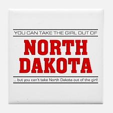 'Girl From North Dakota' Tile Coaster