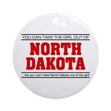 'Girl From North Dakota' Ornament (Round)