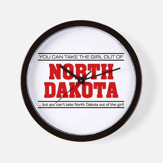 'Girl From North Dakota' Wall Clock
