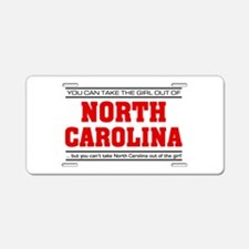 'Girl From North Carolina' Aluminum License Plate