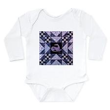 Purple Star Long Sleeve Infant Bodysuit