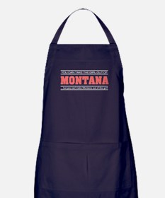 'Girl From Montana' Apron (dark)