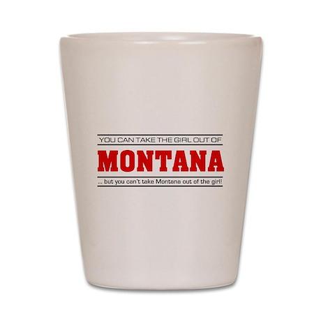 'Girl From Montana' Shot Glass