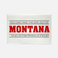 'Girl From Montana' Rectangle Magnet