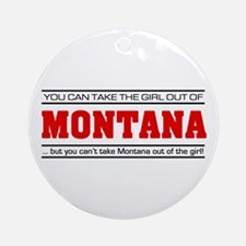 'Girl From Montana' Ornament (Round)
