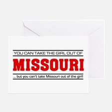 'Girl From Missouri' Greeting Card
