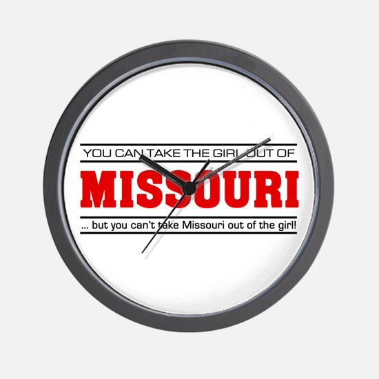 'Girl From Missouri' Wall Clock
