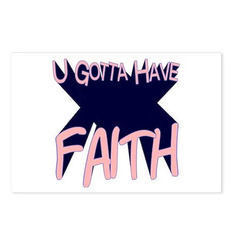 U Gotta Have Faith Postcards (Package of 8)