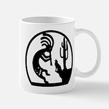 Kokopelli And Wolf Mug Mugs