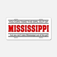 'Girl From Mississippi' Aluminum License Plate
