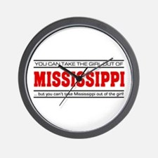 'Girl From Mississippi' Wall Clock
