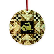 Autumn Star Ornament (Round)