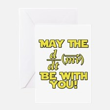 May The Force Be With You Physics Geek Nerd Greeti
