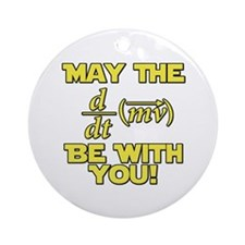 May The Force Be With You Physics Geek Nerd Orname