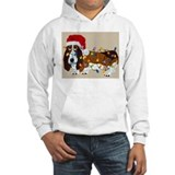 Basset hound christmas lights Hooded Sweatshirt