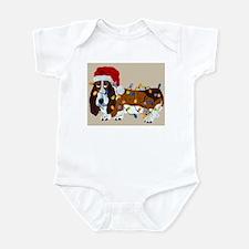 Basset Tangled In Christmas Lights Infant Bodysuit