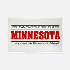'Girl From Minnesota' Rectangle Magnet