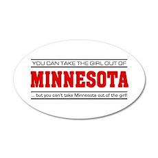 'Girl From Minnesota' 22x14 Oval Wall Peel