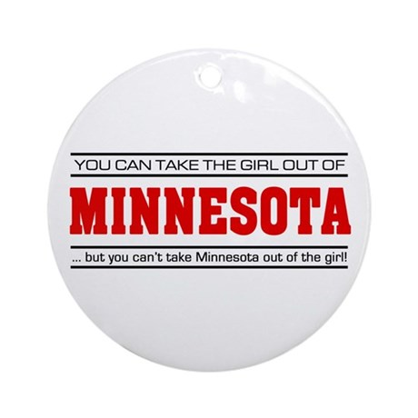 'Girl From Minnesota' Ornament (Round)