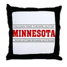 'Girl From Minnesota' Throw Pillow