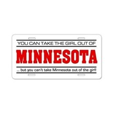 'Girl From Minnesota' Aluminum License Plate