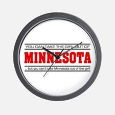 'Girl From Minnesota' Wall Clock