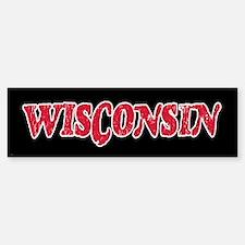 Wisconsin Vintage Bumper Bumper Bumper Sticker