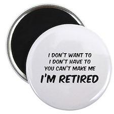 """I'm Retired 2.25"""" Magnet (100 pack)"""