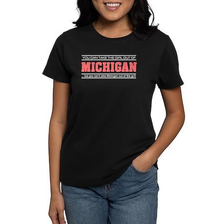 'Girl From Michigan' Women's Dark T-Shirt