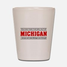 'Girl From Michigan' Shot Glass