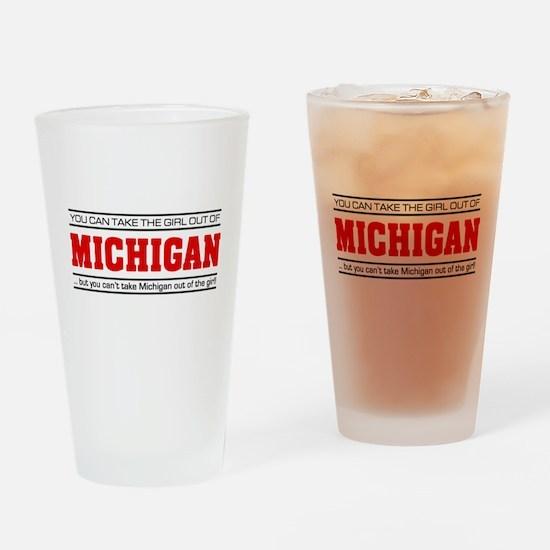 'Girl From Michigan' Drinking Glass