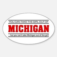 'Girl From Michigan' Sticker (Oval)