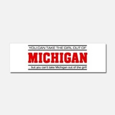 'Girl From Michigan' Car Magnet 10 x 3