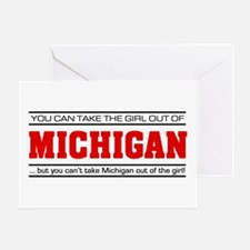 'Girl From Michigan' Greeting Card