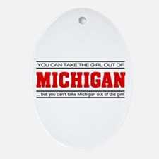 'Girl From Michigan' Ornament (Oval)