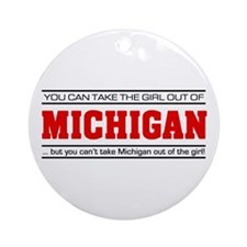 'Girl From Michigan' Ornament (Round)